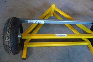 Portable Cable Drum Stand Dismantled.