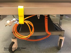 Hygienic Cable Holder for Medical Trolleys - Adept Direct